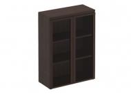 Шкаф для документов средний со стеклянными дверями
