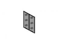 Дверь стеклянная тонированная для V-71