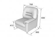 Кресло с левым подлокотником