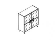 Шкаф для бумаг 4 стеклянные двери