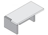 Стол письменный правый/левый с целиковой передней панелью