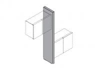 Вертикальная панель для подвесных шкафов