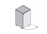 Шкаф узкий с 1 дверью