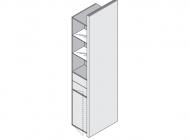 Шкаф-стойка высокий с ящиками