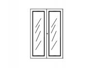 Набор стеклянных дверей для шкафа 965