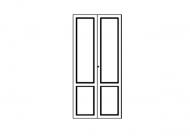 Набор высоких дверей для платяного шкафа