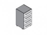 Шкаф-тумба с выдвижными ящиками