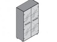 Шкаф для документов со стеклянными дверьми