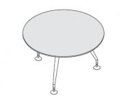 Стол для переговоров круглый со столешницей МДФ