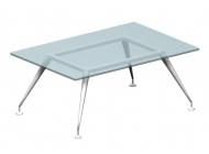 Стол для переговоров Enosi Evo со стеклянной столешницей