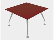 Стол для переговоров 120х120 со стеклянной столешницей