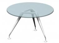 Стол для переговоров круглый  со стеклянной столешницей