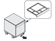 Тумба выкатная с файловым ящиком