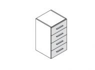 Шкаф низкий с выдвижными ящиками