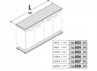 Топ и база для шкафов Enosi Evo