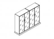 Шкаф для бумаг+гардероб без топа