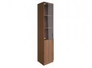 Шкаф для документов узкий со стеклянными дверьми В.СУ-1.2
