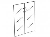 Дверь стеклянная комплект 2 шт